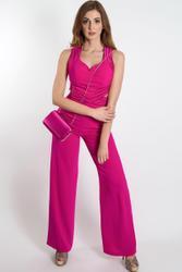 Modern one piece in hip Fuchsia Jumpsuit body-contoured 001