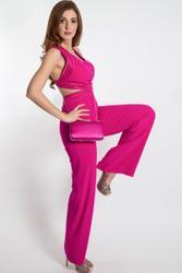 Modern one piece in hip Fuchsia Jumpsuit body-contoured
