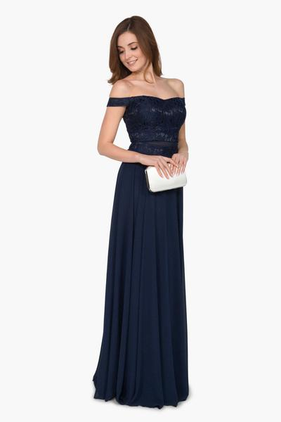 Beautiful evening dress with lace