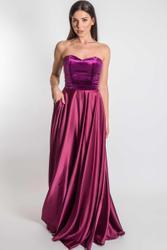 Samt-Satin Kleid lang 001