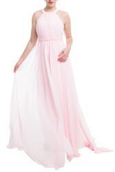 Neckholder Kleid mit langen Stoffbahnen