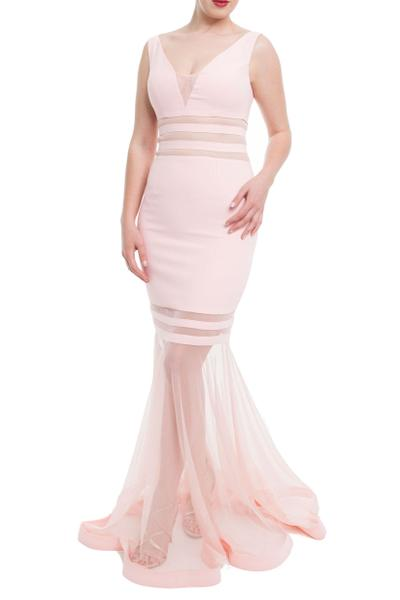 Seductive sheath dress with tulle skirt