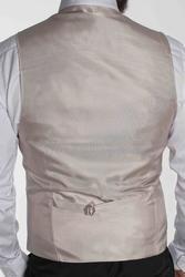 Stilsichere Bräutigam Weste in Grau (Normale Figur)