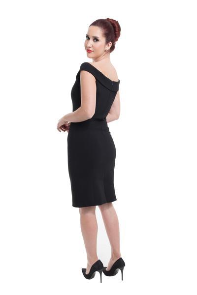Noble shift dress with Bardot