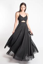 Refined backless dress 001