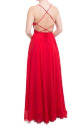 Refined backless dress