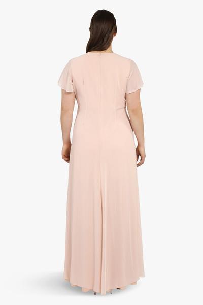 Gewickeltes Kleid mit tiefem Beinschlitz (Übergröße)