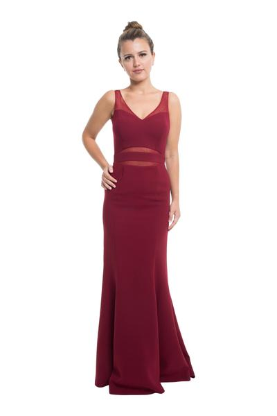 Beautiful evening dress with mesh elements