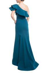 Stilvoll asymmetrisches One-Shoulder Kleid mit Volant