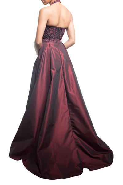 Glamorous ball gown with applications