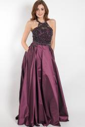 Glamorous ball gown with applications 001