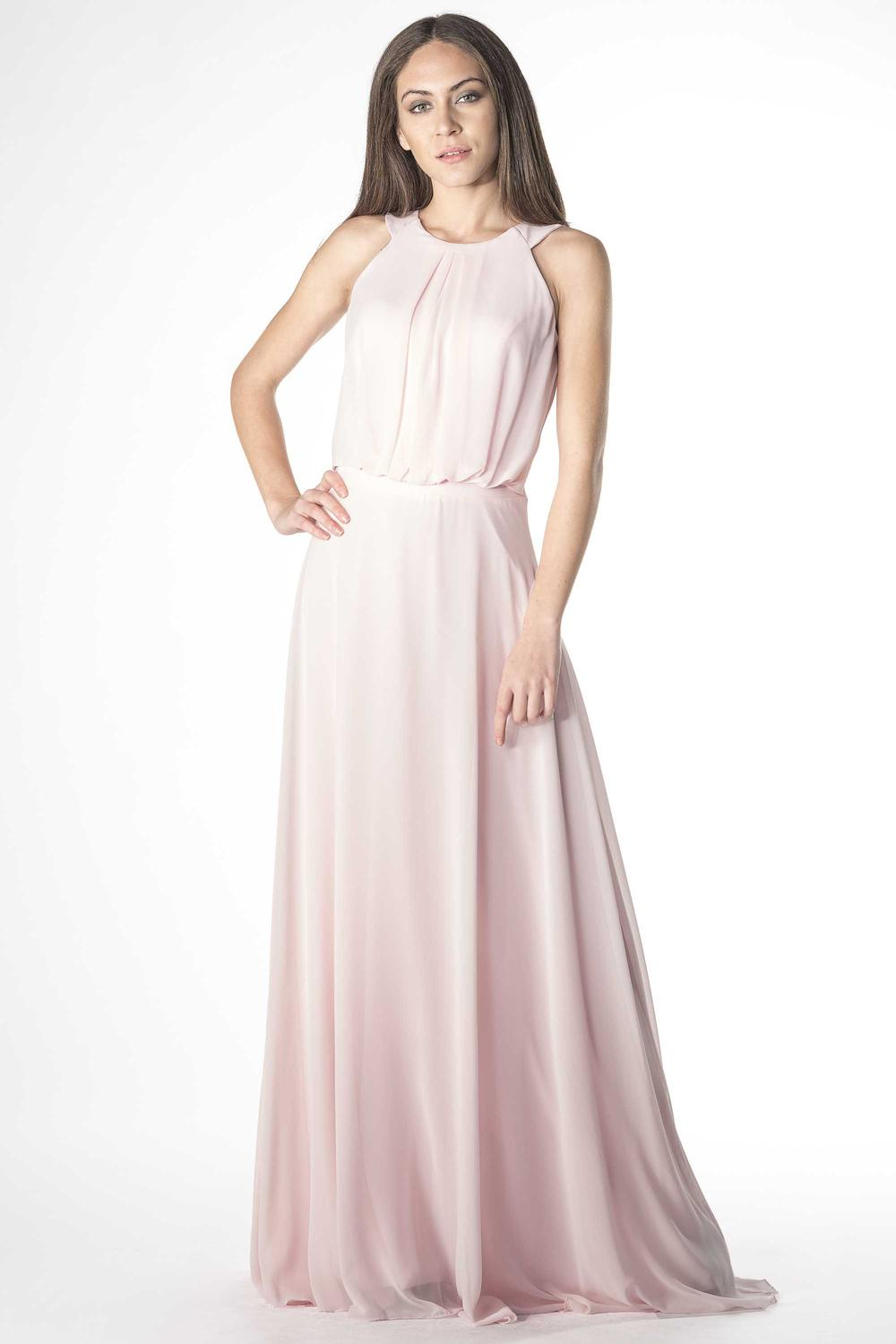 2ead90c93374b Charming evening dress with gathering | Prestije Mode