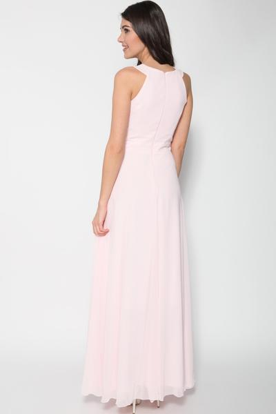 Charming evening dress with gathering