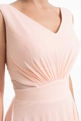 Subtle evening dress with cut-outs Subtle evening dress with cut-outs