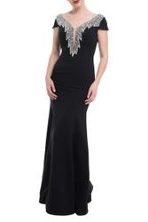 Glamorous dress with decorative stones