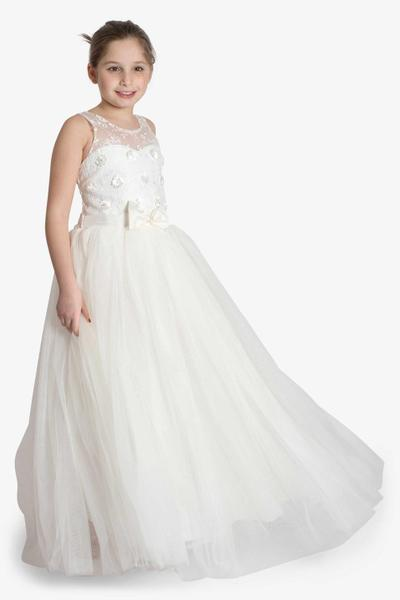Gorgeous flower girl dress with a bow