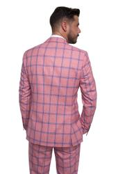 Slim-fit three-piece with checked pattern