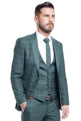 Classically elegant with plaid pattern 001