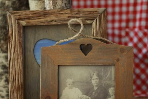 bilderrahmen rustic heart holz herz romantik landhaus. Black Bedroom Furniture Sets. Home Design Ideas