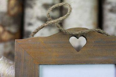 Bilderrahmen Rustic Heart Holz-Herz Landhaus antik – Bild 2