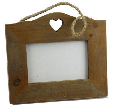 Bilderrahmen Rustic Heart Holz-Herz Landhaus antik – Bild 1