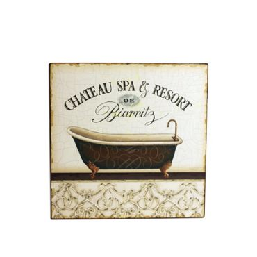 Vintage Schild Chateau Spa Resort Bad
