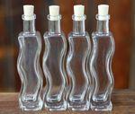 Glasflasche Onda Alta mit Korken 100ml, 4 Stück