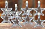 Glasflasche Stern mit Korkverschluss 100ml, 8 Stück