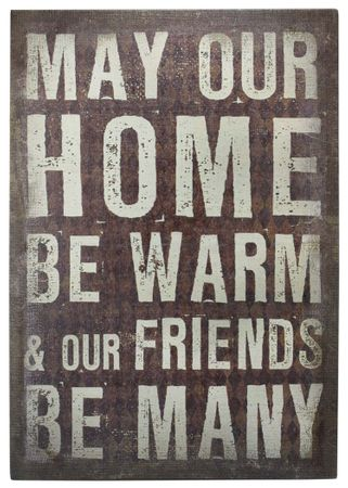 Schild Home & Friends - Vintage Retro
