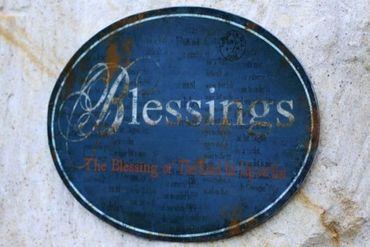 Blech-Schild Blessings Shabby Nostalgie – Bild 1