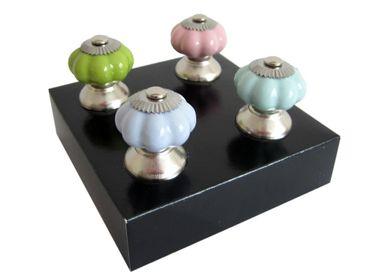 Möbelgriff Pastell Shabby Landhaus Porzellan 4tlg
