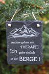 Schiefertafel Berge... Schild