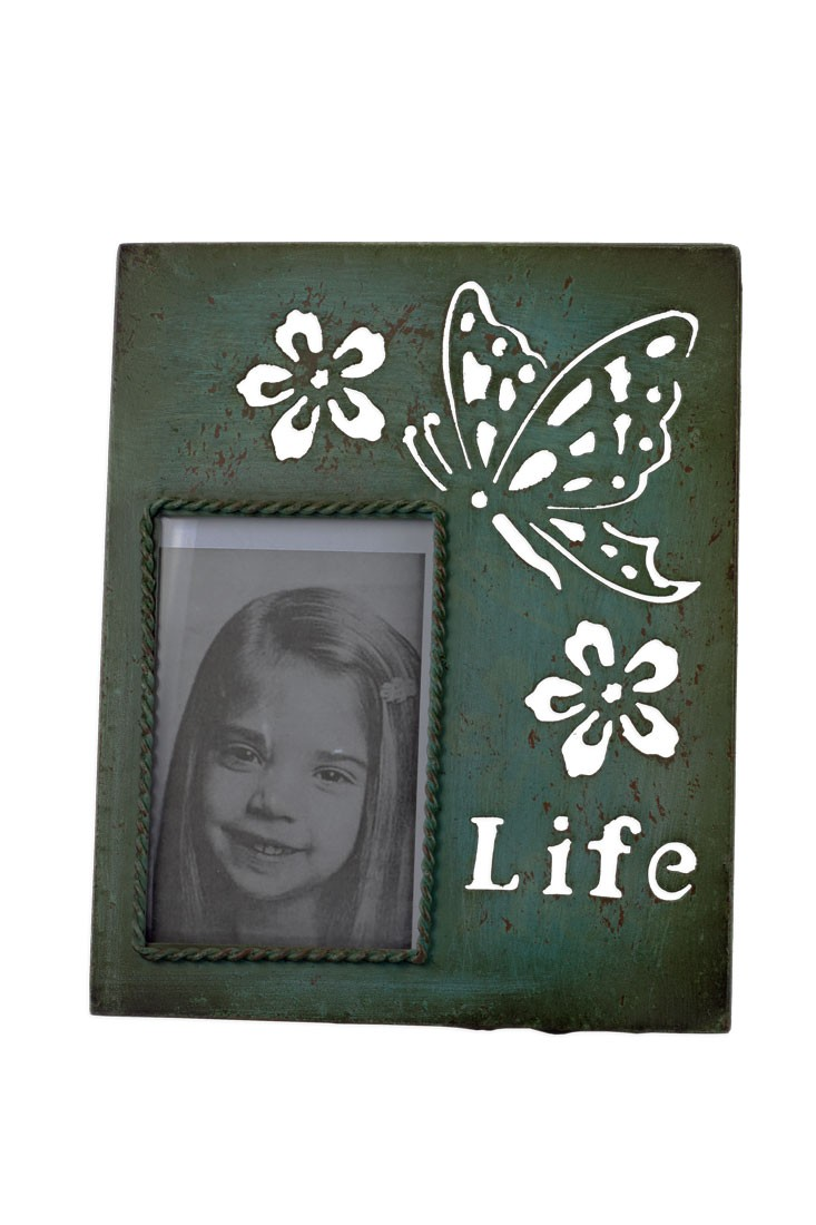 Bilderrahmen Life Shabby Vintage Fotorahmen grün