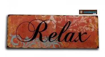 Blechschild Relax Shabby Nostalgie – Bild 1