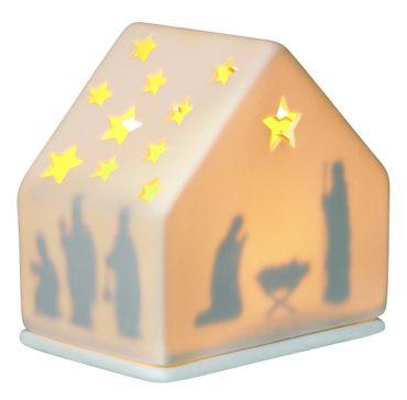 Lichthaus Winterzeit Krippe Windlicht Haus von Räder Design