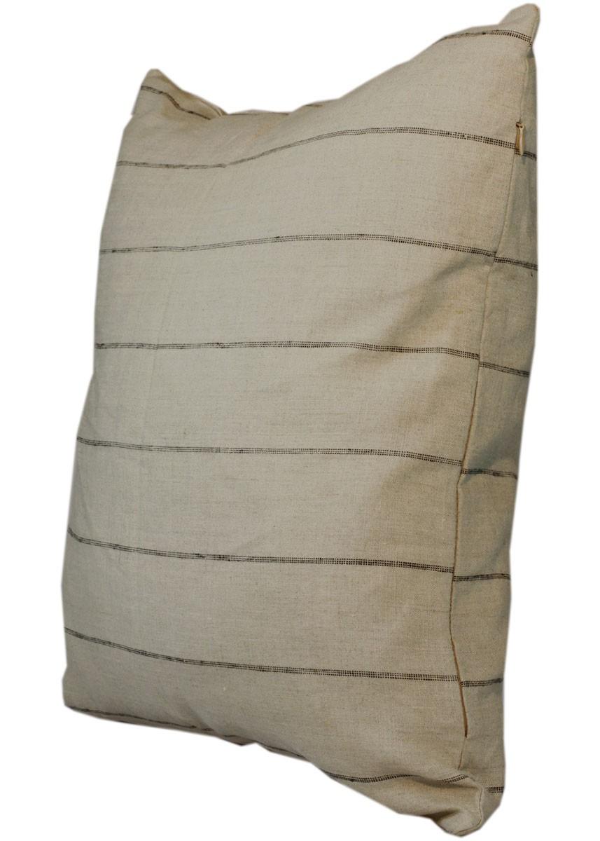 kissen natur mit schwarzen streifen kissenh lle landhaus dekokissen ib laursen. Black Bedroom Furniture Sets. Home Design Ideas