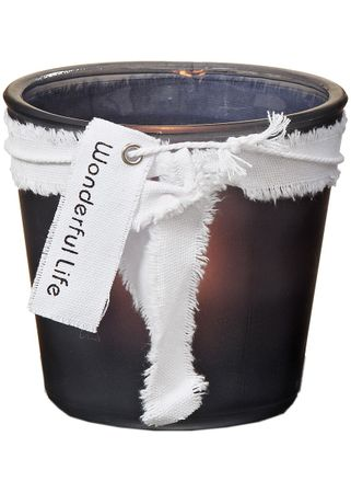 Glaswindlicht Wonderful Life für Teelichter und Kerzen Glas H12cm