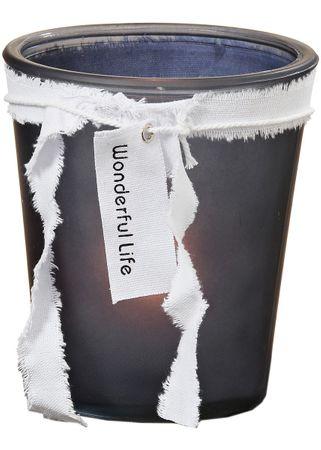 Glaswindlicht Wonderful Life für Teelichter und Kerzen Glas H16cm