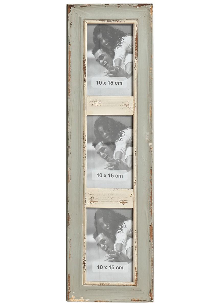 Bilderrahmen Natale 3er Galerierahmen Shabby Vintage Fotorahmen grau