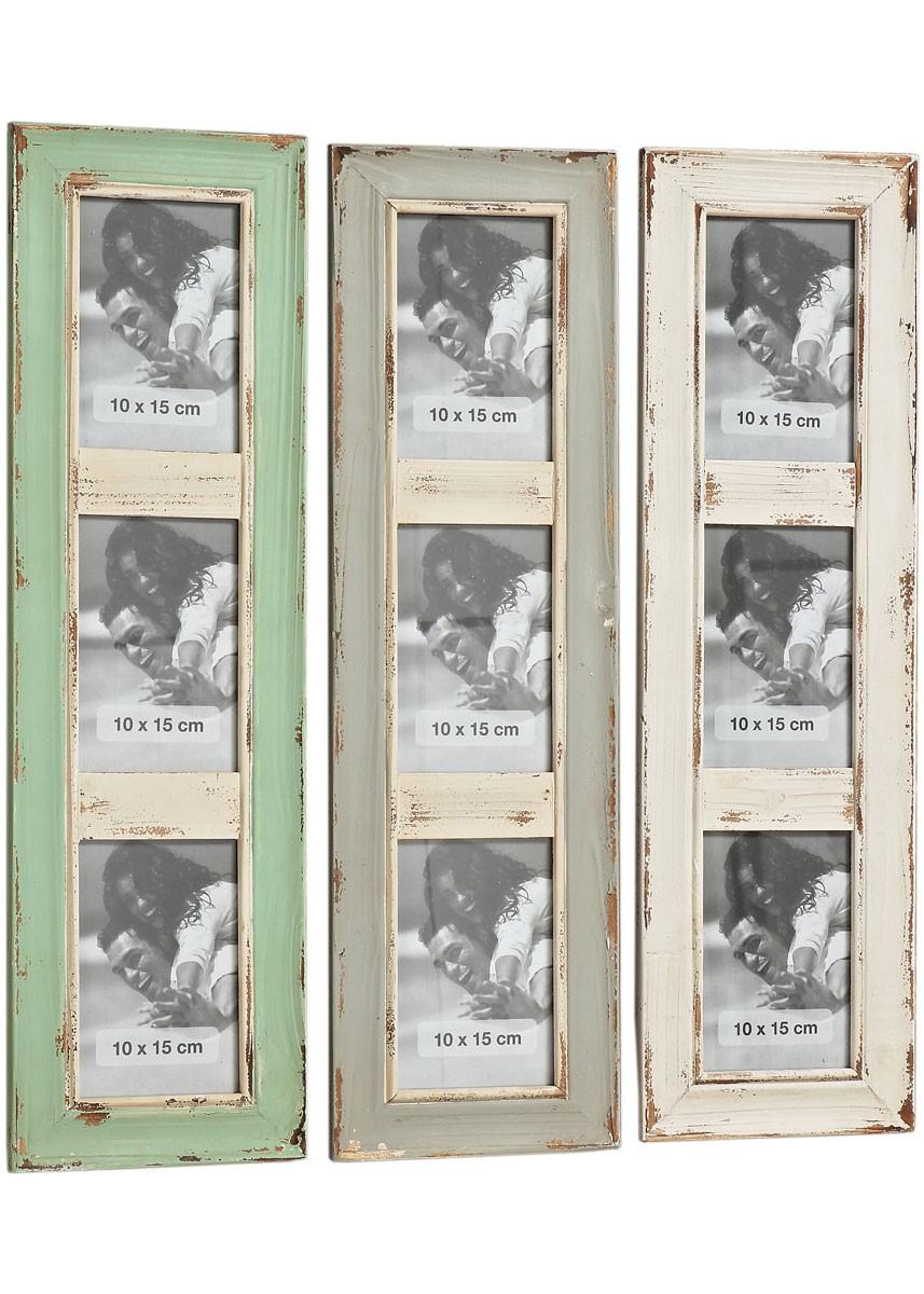 Bilderrahmen Natale 3er Galerierahmen Shabby Vintage Fotorahmen weiss