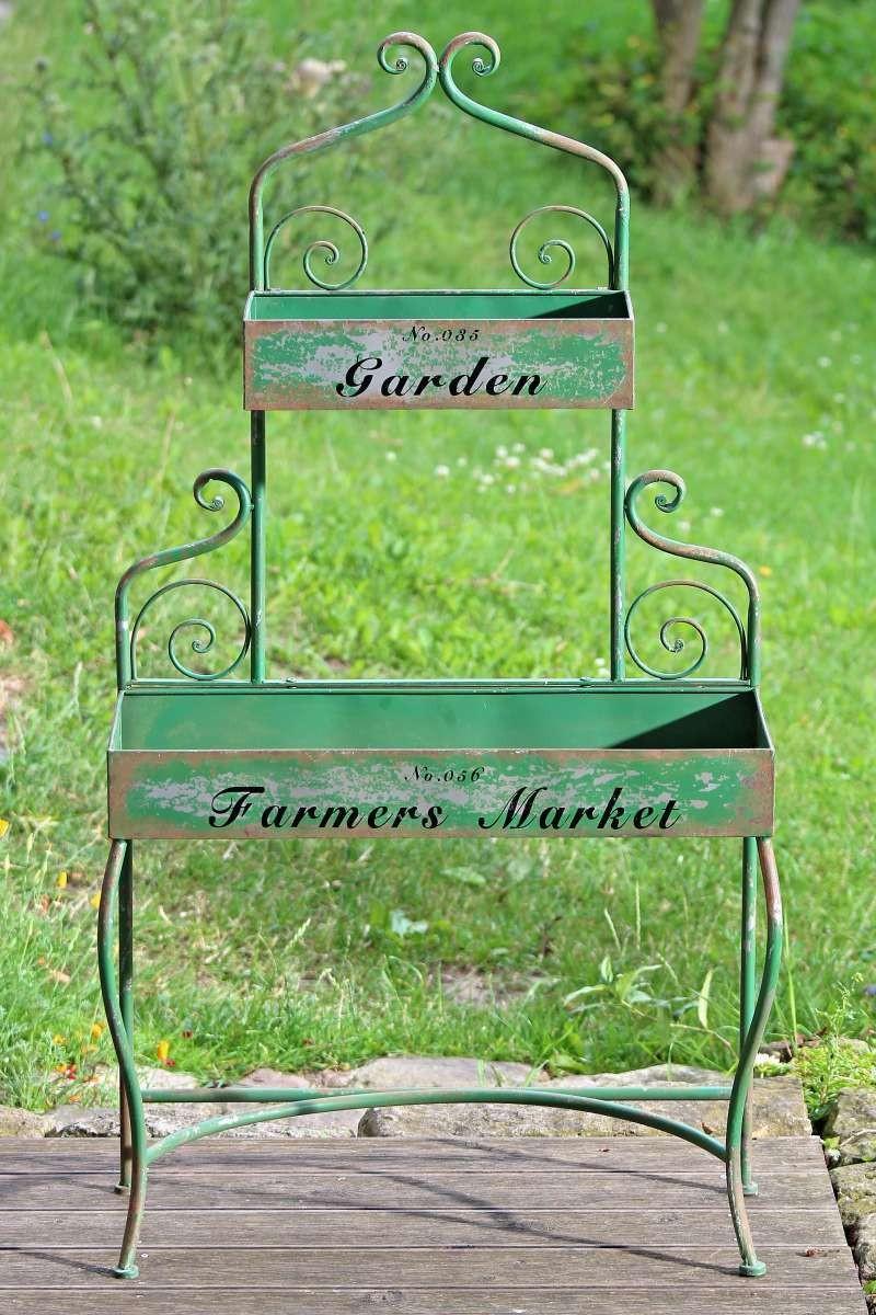 Pflanztisch Garden Gartentisch Im Shabby Vintage Look Aus Eisen
