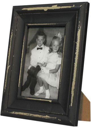 Bilderrahmen Shabby Shari Fotorahmen für 10x15 Fotos Shabby Landhaus schwarz – Bild 1