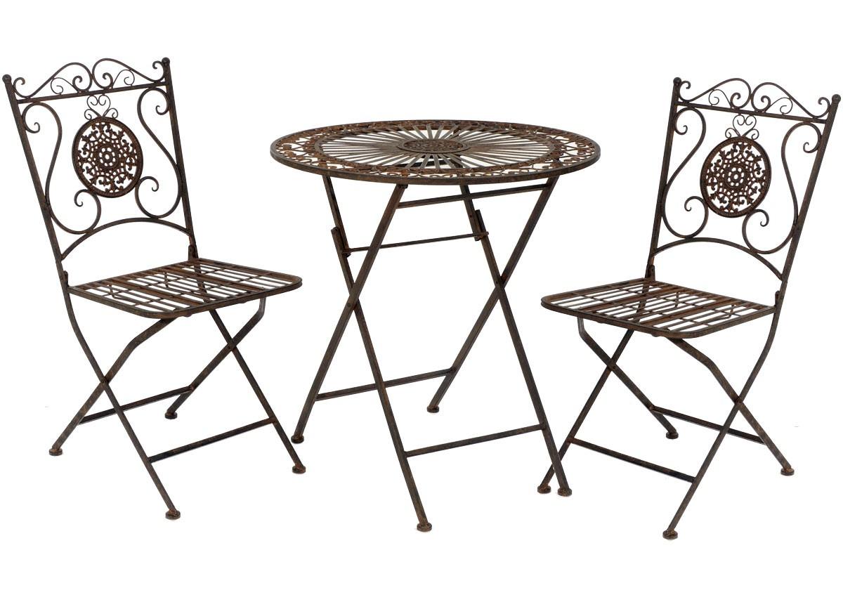 Gartendeko Nostalgisch, nostalgie landhaus sitzgarnitur metall 1 tisch 2 stühle gartengarnitur, Design ideen