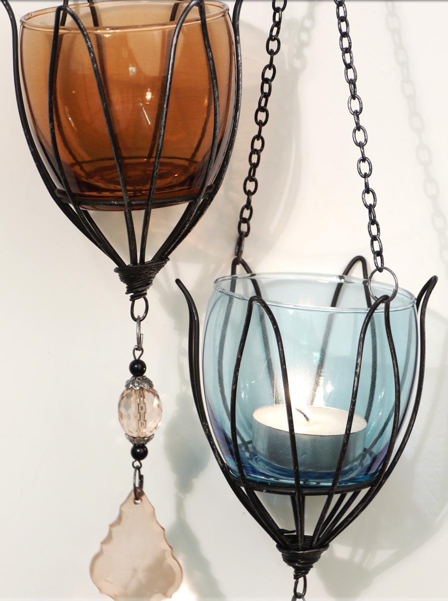 teelichthalter tulpe zum h ngen windlicht dekoh nger teelichth nger. Black Bedroom Furniture Sets. Home Design Ideas