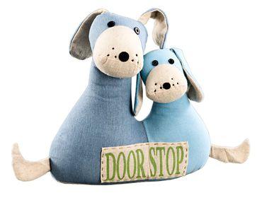 "Stoff-Türstopper ""Hundepaar"" mit Aufdruck DoorStop Shabby Landhaus"