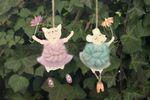 Hänger Ballerina Holz- Anhänger 2er Set