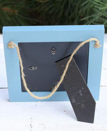 Bilderrahmen Colore hellblau Shabby Vintage Fotorahmen Holz quad – Bild 3