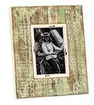 Bilderrahmen Shabby Vintage Fotorahmen aus Holz in natur/grün