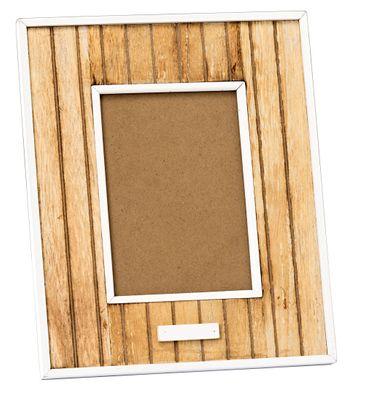 Bilderrahmen Streifenoptik Shabby Vintage Fotorahmen in natur/weiß