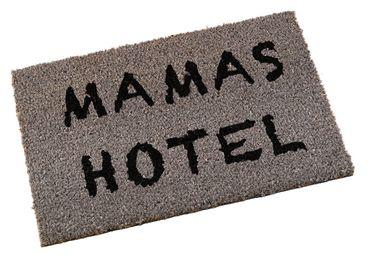 "Kokosfußmatte ""Mamas Hotel"" in grau Shabby Chic Fußabstreifer"